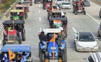 Kisaan tractor raily