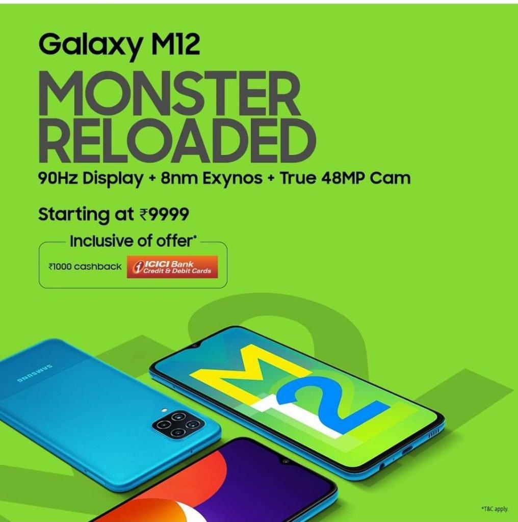 Samsung Galaxy M12 Ad