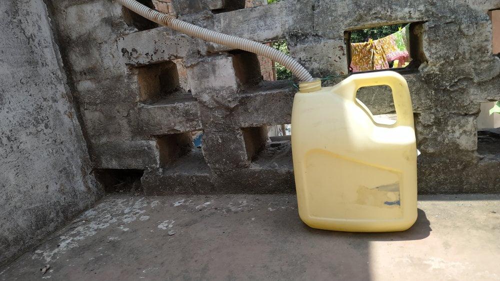 AC drain water storage